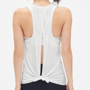 Gap white workout tank top | size S